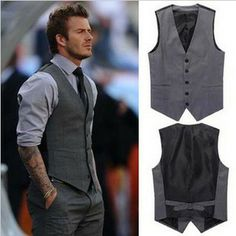 New Arriva Men's Wear Top Brand Slim Fit men's Vest Beckham vest Men suit Vests,Casual vests for men,Free Shipping,R991 $43.98