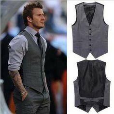 New Arriva Men's Wear Top Brand Slim Fit men's Vest Beckham vest Men suit Vests,Casual vests for men,Free Shipping,R991 $43.98