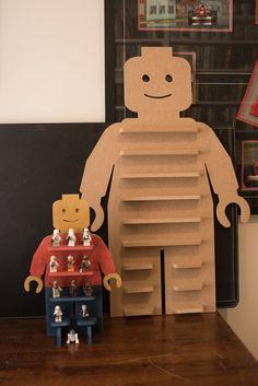 Grand affichage de Minifig de Legoman | Etsy Lego Display, Lego Storage, Kids Storage, Lego Bedroom, Kids Bedroom, Lego Room Decor, Casa Lego, Lego Activities, Ideias Diy