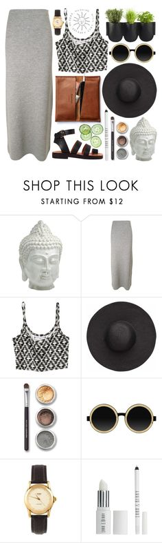 """""""Untitled #19"""" by jelly-jellybeans ❤ liked on Polyvore featuring Cyan Design, Acne Studios, H&M, Witchery, Bare Escentuals, Moscot, American Apparel, Belle Fleur, Lord & Berry and Authentics"""
