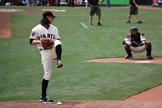 Baseball ♥  Tim Lincecum and Buster Posey