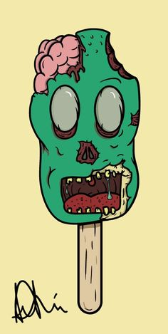 By Agustin Lazzo  #zombie #ice #cream