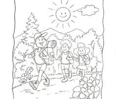 Kolorowanka - Wakacje w górach