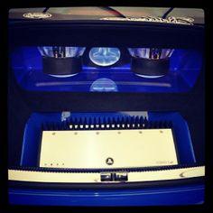 Great looking JL Audio install.  fabrication custom car stereo trunk install JL Audio