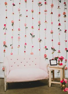 Sweet and Simple DIY Flower Wall Backdrop | Unique Floral Design Inspiration for Spring Weddings!
