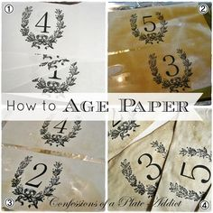 Hometalk :: #RepurposingandUpcycling Want to learn how to age paper and spiff up y…