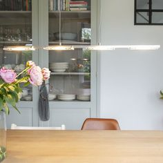 Hanging lamp steel with glass plate incl. LED with dimmer - Vitro | Lampandlight Interior, Lamp, Insulated Concrete Forms, Bookcase Styling, Glass Plates, Interior Lighting, Hanging Lamp, Radiant Floor Heating, Shelf Design