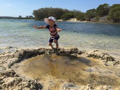 Mission: Dam That! | Caption: We made a big pond with sand walls to keep the water out. The pond was warmer than the outside water. | Entrant: C&K Caloundra | © Nature Play QLD 2016