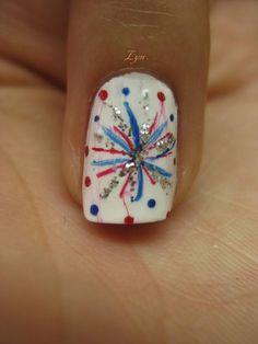 4th of July Nail Design #2