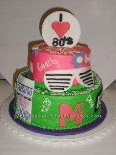 80's cake ideas | ... 80′s Cake... This website is the Pinterest of birthday cake ideas