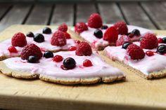 FRÜHSTÜCKSPIZZA- Haferflocken, yogurt und obst