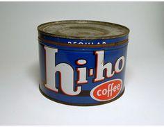 Vintage Hi-Ho Coffee Can