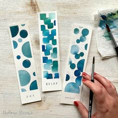 I have spent today filming for my next Skillshare class - it's going to be full of ideas for little projects you can do with watercolour to… Watercolor Bookmarks, Watercolor Projects, Watercolor Cards, Watercolor Paintings, Watercolours, Creative Bookmarks, Cute Bookmarks, Bookmark Craft, Paper Bookmarks