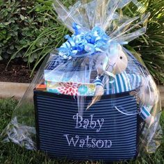 An adorable baby shower gift! Personalize with the baby's name for an added touch!