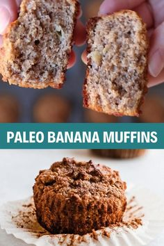 Clean Banana Muffins, Clean Eating Muffins, Healthy Chocolate Muffins, Banana Almond Flour Muffins, Healthy Oatmeal Muffins, Banana Carrot Muffins, Paleo Banana Bread, Healthy Breakfast Muffins, Apple Muffins Gluten Free