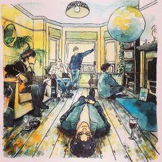 Oasis Definitely Maybe Rock Posters, Band Posters, Oasis Album, Oasis Music, Oasis Band, Definitely Maybe, Pochette Album, Pop Art Illustration, Music Album Covers
