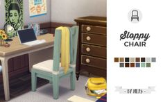 mlys_simblr.package - Sloppy chair Hi ♥ I wanted to make this chair to...