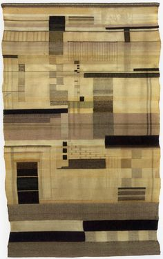 Gunta Stölzl: she was a textile master at Germany's Bauhaus school and workshop in the early 20th century. Born in 1897, she translated modernism into weavings and vice-versa.