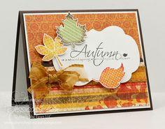 Autumn themed card using the stamp set Autumn by There She Goes Clear Stamps