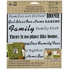 FolkArt® Painting Stencil, Family Words/Phrases