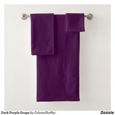 Dark Purple Grape Bath Towel Set