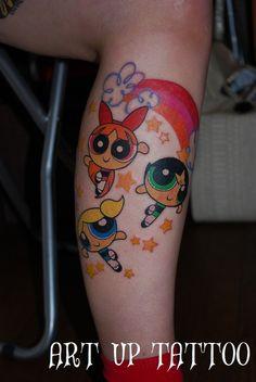 #tattoo #tokyo #character #The Powerpuff Girls #タトゥー #キャラクタータトゥー #パワパフガールズ #女性彫師 #プライベートタトゥースタジオ #タトゥー個室 #東京 #日野 #立川 #八王子 #アートアップタトゥー