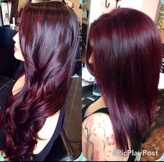New Hair Color Plum Red Eyebrows 20 Ideas Pelo Color Vino, Pelo Color Borgoña, Pelo Color Berenjena, Balayage Hair, Ombre Hair, Wine Hair, Hair Color Purple, Color Red, Black Cherry Hair Color
