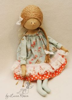 Чудесные интерьерные куклы Lucia Rosca