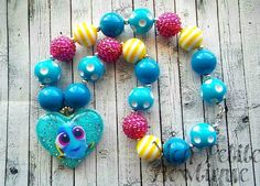 Baby Dory Inspired Chunky Bead Necklace by PrincessTali on Etsy