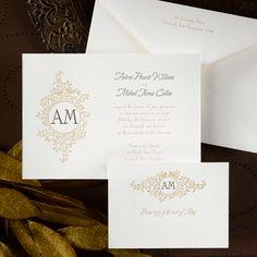 White Wedding ideas - Love Birds on Simply White (Invitation Link - http://occasionsinprint.carlsoncraft.com/Weddings/Invitations/1101-FR7363ADDL-Birds-on-Vines-Letterpress--Invitation.pro)