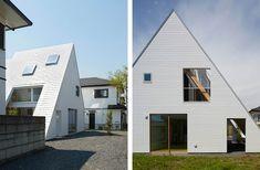 Casa con tetto spiovente in acciaio bianco by Suppose Design Office | ARC ART blog by Daniele Drigo