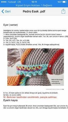 Pedro the Donkey amigurumi pattern by airali design - Her Crochet Easter Crochet Patterns, Crochet Doll Pattern, Baby Knitting Patterns, Amigurumi Patterns, Crochet Dolls, Doll Patterns, Crochet Food, Crochet Bear, Crochet Animals