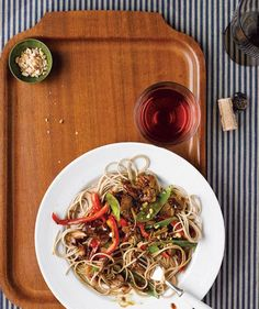 Slow Cooker Asian Pork With Snow Peas, Red Peppers, and Soba Noodles is the perfect weeknight meal. Plus, it's loaded with veggies and full of flavor. #CrockPot #SlowCooker #recipe