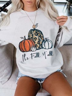 Momma Shirts, Casual Tops For Women, Printed Sweatshirts, Hoodies, Casual Street Style, Casual T Shirts, Casual Fall, White Women, Sweater Hoodie