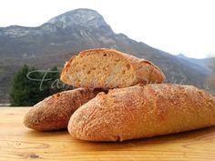 Pane integrale con pasta madre. Dalle mani di una donnina sarda trasferita a milano, una farina integrale che chiedeva solo di essere trasformata in pane