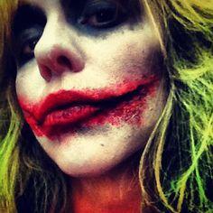 Joker by Kristal Shannon www.kristalshannon.com Halloween makeup New Orleans
