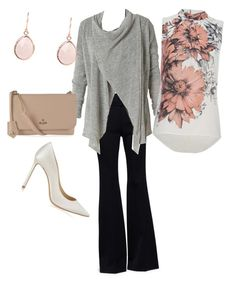 """""""Pink, grey, and ivory work outfit"""" by rachel-osborne on Polyvore featuring Alexander McQueen, Royal Robbins, Jimmy Choo and Vivienne Westwood"""