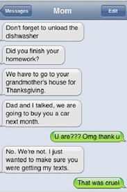 Funny texts from mum and dad! - via Parentdish