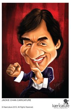 Jackie Chan #Caricature #FunnyFaces