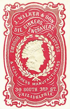 Walker & Son by Cameo Makers Vintage Packaging, Vintage Labels, Vintage Ephemera, Vintage Ads, Vintage Images, Vintage Posters, Vintage Designs, Circle Logo Maker, Typographie Inspiration