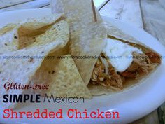 A Busy Mom's Slow Cooker Adventures: Simple Mexican Shredded Chicken - Gluten-Free