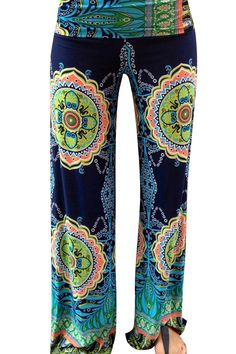 Vintage Print Loose Fit Yoga Pants