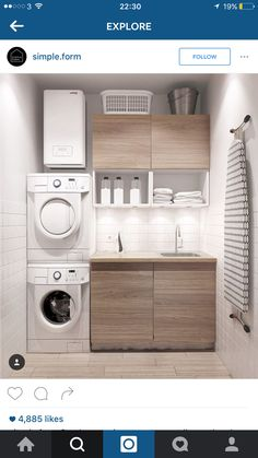 Best 20 Laundry Room Makeovers - Organization and Home Decor Laundry room decor Small laundry room organization Laundry closet ideas Laundry room storage Stackable washer dryer laundry room Small laundry room makeover A Budget Sink Load Clothes Modern Laundry Rooms, Laundry In Bathroom, Basement Laundry, Laundry Area, Bathroom Small, Laundry Room Small, Bathroom Modern, Ikea Laundry Room, Laundry Closet