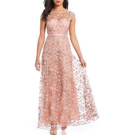 2a71676ace7 KARL LAGERFELD PARIS Floral Lace Gown  Dillards Mob Dresses