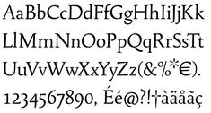 Tallys is a font that is one degree slanted and has large caps, a small x-height and long ascenders.