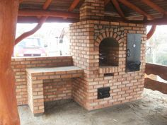 Grille ogrodowe, wędzarnie, piece chlebowe, piece do pizzy Outdoor Barbeque, Brick Bbq, Smokers, Pavilion, Pergola, Construction, Garden, Diy, Home Decor