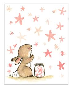 Look what I found on #zulily! trafalgar's square Wishing Bunny Print by trafalgar's square #zulilyfinds