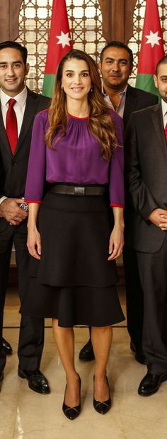 January 18, 2015, ♔♛Queen Rania of Jordan♔♛...