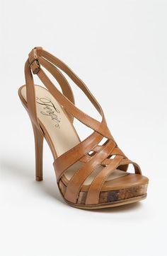 Fergie 'Kissed' Sandal ... need to buy a pair of skin toned sandals this year.