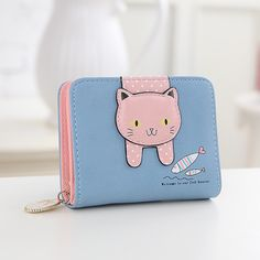 Cheap wallet ring, Buy Quality wallet purse shoulder strap directly from China wallet mini Suppliers: Women cute cat wallet small zipper girl wallet brand designed pu leather women coin purse female card holder wallet